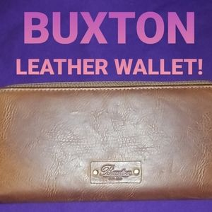 BUXTON leather case wallet